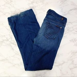 7 For All Mankind Dojo Flare Jeans Size 25 Flawed